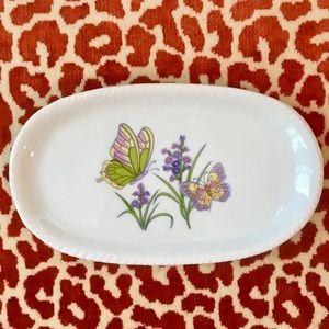 Vintage Royal Norfolk Soap Dish Tray Butterflies